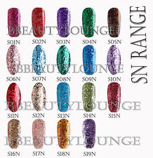 Bluesky 2015 SN Range GLITTER UV/LED Soak Off Gel Nail Polish 10ml 6 colours