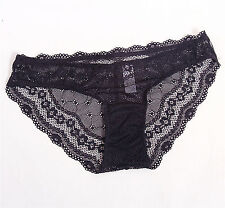 Women Lady Sexy Black Lace High quality Panties Briefs Underwear Knickers 6-10