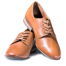 Marks & Spencer Womens Ladies Leather Brogue Shoes - Tan RRP 49.50 GBP