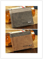 Men's Leather Bifold Wallet ID Business Credit Card Clutch Pockets Holder Purse