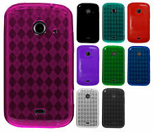 T-Mobile ZTE Zinger TPU CANDY Gel Flexi Skin Case Phone Cover Plaid Accessory