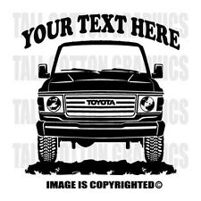 TOYOTA - FJ60 - LAND CRUISER  / 1981-1987 Personalized Vinyl Decal -  #OR020