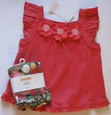 Gymboree Unicorn Garden Outfit 2T New Rose Top Shirt Flower Leggings Pants Girl