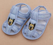 Toddler shoe blue Stripe mickey sandals shoes CuteKids infant shoe first walkers