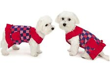 Patriotic Pooch Patchwork SPF 40 Dog Dress Stylish Red White & Blue Dresses