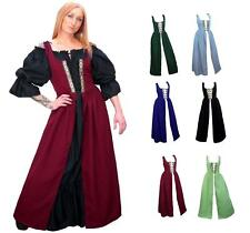 RENAISSANCE FAIR MEDIEVAL PIRATE PEASANT COSTUME SKIRT BODICE IRISH OVER DRESS
