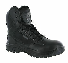 New Mens Combat Black Steel Toe Cap Safety Work Police Tactical Boots Size 5-13