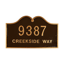 HILLSDALE Address Plaque Lawn Marker House Sign Numbers wall Custom Made 2 order