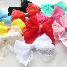 20PCS Lace Satin Ribbon Bows Flowers Appliques Wedding Doll Decor Lots Mix A428
