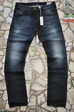 DIESEL BRADDOM 880F 0880F 30 32 L34 SLIM CARROT MENS JEANS DARK BLUE DISTRESSED