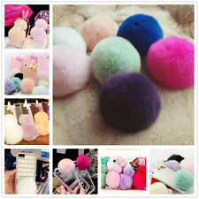 Ultra Luxury Candy Color Soft DIY Deco Real REX Rabbit Fur Ball For Smart Phone
