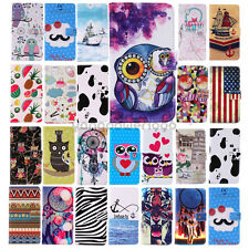 For Samsung Galaxy S5 S4 S3 Note3/4 Patterned Pu Leather Flip Case Cover