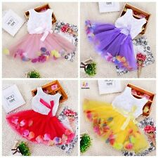 Toddle Girl Tutu Clothes Kids Tops Baby Dresses Pretty Rose Dress Summer Clothes