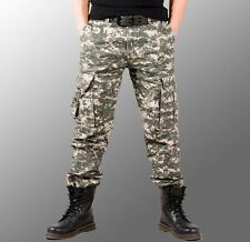 Mens Casual Military Army Cargo Camo Combat long Pants Trousers camouflage pants