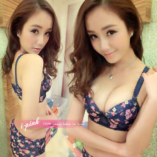 Hot Sale B Cup Cute Grils luxury bra set sexy Flower Pull Up underwear intimate