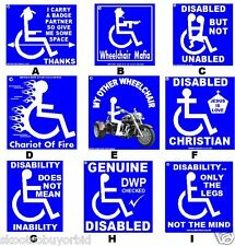 LOOK HERE IF YOUR DISABLED THEN TAKE A LOOK AT THESE DISABILITY STICKERS.