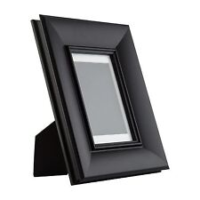 Verandah Table-Top 4x6 Vintage Black Standing Picture Frame with Mat