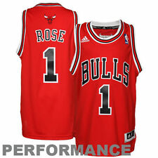 Derrick Rose Chicago Bulls adidas Youth Swingman Away Jersey - Red - NBA