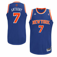 Mens New York Knicks Carmelo Anthony adidas Royal Blue Swingman Road Jersey