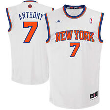 Youth New York Knicks Carmelo Anthony adidas White Replica Home Jersey - NBA