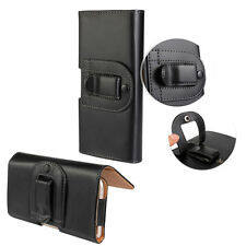 For Samsung Motorola Black Durable PU Leather Belt Clip Holster Case Cover Pouch
