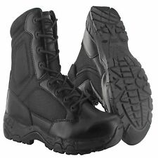 "Magnum Mens 8"" VIPER PRO 8.0 Side Zip SZ WP Black Police Army Combat Boots 5474"