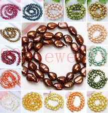 8-9mm Cultured Rice Oval Fresh Water Pearl Loose Freeform DIY Bead