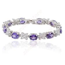 Jewellery Bracelets Fashion Purple/Ruby/White Lady's 10Kt White Gold Filled Gift