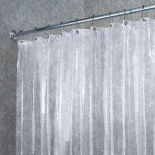 Deluxe Quality Vinyl Shower Curtain Liner W/ Reinforced Grommets & Magnetic Hem