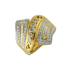 Diamond Round & Baguette Shape Anniversary Ring 1.00 ct tw in 14K Yellow Gold