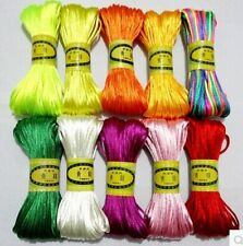 20M Chinese Knot Satin Nylon Braided Cord Macrame Beading Rattail Cords 3mm hot