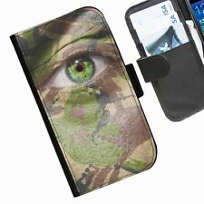 Camouflage Leather wallet personalised phone case for iPhone 3 4 4S 5 5S 5C 6 6+