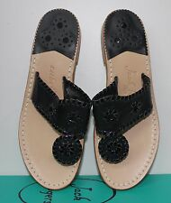 Jack Rogers Navajo black leather sandals New In Box