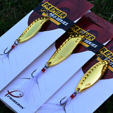 5pc metal Fishing Lure Gold Color Exported to USA Market 7.5/10/15g spoon lure