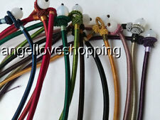 variations color silk thread knot cord chain pendant necklace USA RUSSIAN BY EUB