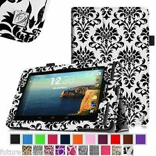 For Verizon Ellipsis 7 4G LTE Tablet Slim Fit Premium Vegan Leather Case Cover