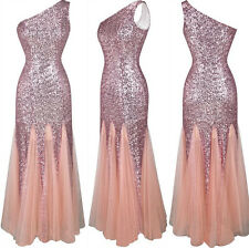 Women Sequins Long Formal Prom Cocktail Party Ball Gown Evening Bridesmaid Dress
