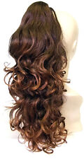 Long Curly Ponytail Hair Extension In Brown / RRP £19.99 / From Fumi Wigs UK