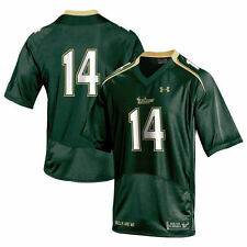 No.14 South Florida Bulls Under Armour Replica Football Jersey - Green - College