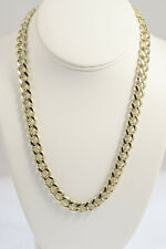 Gold Plated 9mm Cuban/Curb Link Chain Necklace or Bracelet - Lifetime Warranty