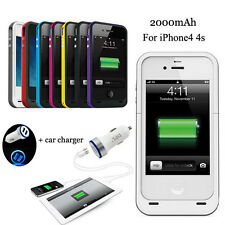 New Fochutech power bank case pack buackup charge battery cover for iphone 4 4s
