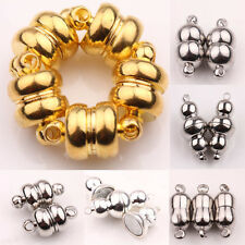 5/10 Sets White K/Silver/Gold Plated Calabash Shape Round Magnetic Clasps Hooks