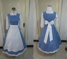 Adult Princess Belle Costume Beauty and The Beast Maid Outfit