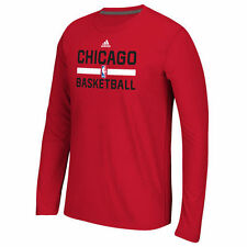 Chicago Bulls adidas Youth Practice climalite Long Sleeve T-Shirt - Red - NBA