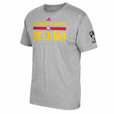 Brooklyn Nets adidas Beijing Global Game Practice T-Shirt - Gray - NBA