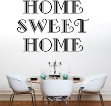 HOME SWEET HOME wall quote lounge sticker decal living room vinyl large quotes