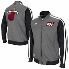 adidas Miami Heat On-Court Second Half Jacket - Gray/Black