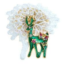 Christmas Tree/Jingle Bell/Santa Boot/Deer Brooch Pin Xmas Gift