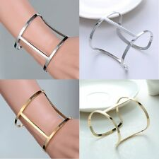 New Arrival!Punk Silver/Gold Fashion Bangle Bracelet Simple Women Unisex Jewelry