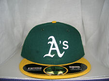 OAKLAND ATHLETICS AUTHENTIC ON-FIELD 59FIFTY HOME FITTED HAT CAP BY NEW ERA